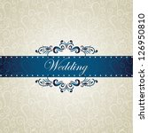 wedding invitation  swirls... | Shutterstock .eps vector #126950810