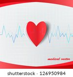 heart and electrocardiogram | Shutterstock .eps vector #126950984