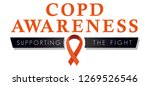 copd awareness ribbon  logo to... | Shutterstock .eps vector #1269526546