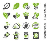 stevia icon set vector and... | Shutterstock .eps vector #1269528706
