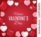 valentine's day love and... | Shutterstock .eps vector #1269536800