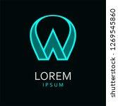 w letter logo. isolated on... | Shutterstock . vector #1269545860