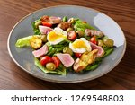 meat salad with bacon ... | Shutterstock . vector #1269548803