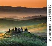 tuscany  italy   landscape | Shutterstock . vector #126955580