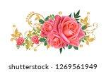 decorative ornament  paisley...   Shutterstock . vector #1269561949