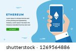 ethereum design concept with... | Shutterstock .eps vector #1269564886
