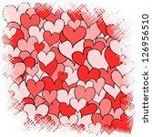 square full of various hand... | Shutterstock .eps vector #126956510