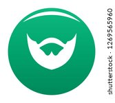 clipped beard icon. simple...