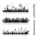 different grass banner... | Shutterstock .eps vector #126956786