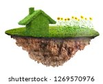 eco friendly house concept made ... | Shutterstock . vector #1269570976
