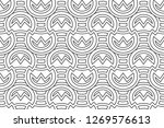 black and white seamless... | Shutterstock . vector #1269576613