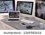 modern computers with video... | Shutterstock . vector #1269582616