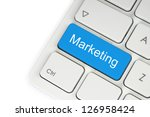 Blue Marketing Keyboard Button...