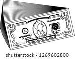 bunch of 5 us dollar banknote...   Shutterstock .eps vector #1269602800
