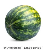 watermelon isolated on white... | Shutterstock . vector #1269615493