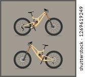 modern full suspension bike for ...   Shutterstock .eps vector #1269619249