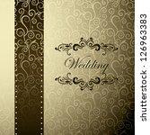vintage invitation   menu ... | Shutterstock .eps vector #126963383