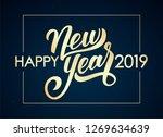 vector illustration. golden... | Shutterstock .eps vector #1269634639