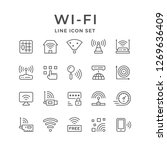 set line icons of wi fi | Shutterstock .eps vector #1269636409