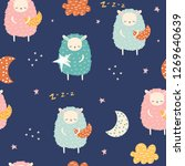 seamless pattern with cute... | Shutterstock .eps vector #1269640639