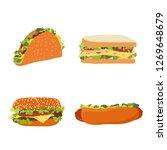 vector illustration set of fast ...   Shutterstock .eps vector #1269648679