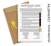mortgage loan application... | Shutterstock .eps vector #1269648796