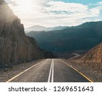 mountain desert road in eilat... | Shutterstock . vector #1269651643