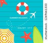 summer time vector banner... | Shutterstock .eps vector #1269661333