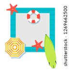 summer time vector banner... | Shutterstock .eps vector #1269662500