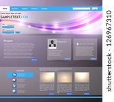 shiny website template | Shutterstock .eps vector #126967310
