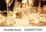 blur many empty glasses on the... | Shutterstock . vector #1269697339