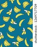 banana pattern vector 2 | Shutterstock .eps vector #1269717709