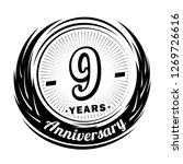 9 years anniversary. elegant... | Shutterstock .eps vector #1269726616