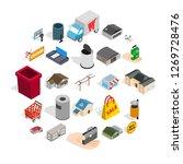 infrastructure icons set.... | Shutterstock . vector #1269728476