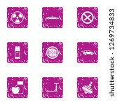 threat to life icons set.... | Shutterstock . vector #1269734833