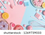 kitchen utensils and tools ... | Shutterstock . vector #1269739033