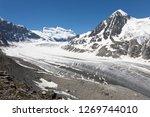 the corbassiere glacier is a...   Shutterstock . vector #1269744010