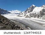 the corbassiere glacier is a...   Shutterstock . vector #1269744013