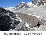 the corbassiere glacier is a...   Shutterstock . vector #1269744019