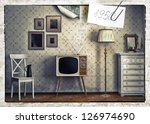 obsolete retro card  of old... | Shutterstock . vector #126974690