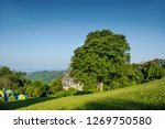 Green Hill With Blue Sky In The ...