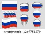 flag of russia | Shutterstock .eps vector #1269751279