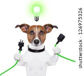 Green Energy Dog With A Cable...