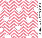 valentine day pink hearts... | Shutterstock .eps vector #1269755353