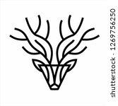 deer head icon | Shutterstock .eps vector #1269756250