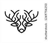 deer head icon | Shutterstock .eps vector #1269756253