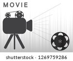 icons of the camera and film... | Shutterstock .eps vector #1269759286