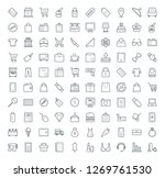 set of shopping icons  | Shutterstock .eps vector #1269761530