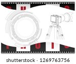black camera with tripod and... | Shutterstock .eps vector #1269763756