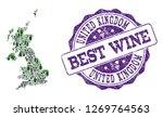 vector collage of grape wine...   Shutterstock .eps vector #1269764563